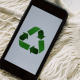 Símbolo economía circular y reciclaje